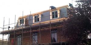 Tijdens de bouw